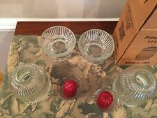 Vintage Home Interior Glass Princess Candle Lights, new in box (2)