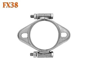 "FX38 2 5/8"" 2.625"" Exhaust Split Flange Formed Oval For 2 1/2"" 2.5"" Flared Pipe"