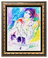 LeRoy Neiman Original Watercolor Painting Elvis Presley Signed Framed Artwork