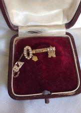Rare Kappa Kappa Gamma Pearls 14k Gold key pin fraternity sorority 1914 Syracuse