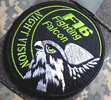 General Dynamics F-16 FIGHTING FALCON vel©®⚙ SWIRL INSIGNIA PATCH: Night Vision