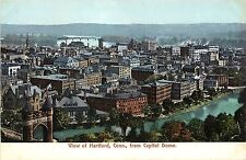 1901-1907 Chromolithograph Postcard; View of Hartford CT from Capitol  Dome