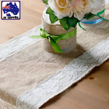 Hessian Burlap Lace Table Runner Rustic Wedding Party Decor 30x260cm Sfla81430
