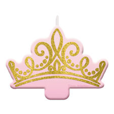 DISNEY PRINCESS Once Upon a Time GLITTER CANDLE ~ Birthday Party Supplies Cake