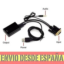 Convertidor señal Video VGA+Audio a salida video HDMI