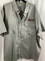 Carhartt Force Button Front Shirt Relaxed Fit SS Vented Beige Case Ag Men's 3XL