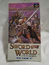 Sword World SFC (Nintendo Super Famicom T&E) Japanese RPG, Complete, tested