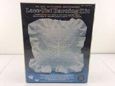 "Butterfly Monogram Pillow Lace Net Darning Kit NIP #8502 (1983) 14""x14"" Valiant"