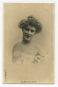 c 1903 French Theater Cabaret MANON LOTTY early undivided back photo postcard
