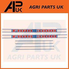 Ford New Holland 3000 Tractor Hood Bonnet Decal Sticker Set Kit Emblem Transfer