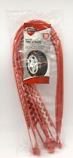 10 Piece Mud/Snow Tire Anti-Slip Chain-Like Straps for Car/Winter Driving - NEW