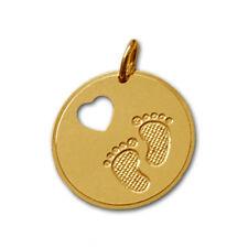 Silberpoint Anhänger Babyfüße mit ausgestanztem Herz-Silber925 - &Kette/Gravur
