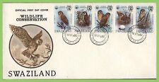 More details for swaziland 1982 birds set on first day cover