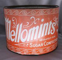 Large Vintage Mellomints Sugar Confection Tin 10 lbs
