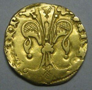 SPAIN 1/2 FLORIN GOLD PEDRO III VALENCIA 1336-1387 TYPE 1/2 ESCUDO COB COLONIAL