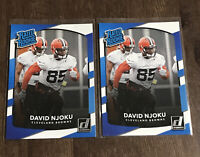 2017 Donruss Rated Rookie David Njoku Lot (2) RC #314 Cleveland Browns