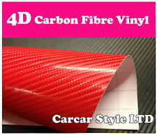 4D GLOSS/4 Colour【 Carbon Fibre Vinyl】Wrap Textured for car & home (real look)