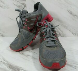 NIKE Shox Shoes Womens Size 8 Agent 438683-006 Gray Pink Black Running Sneakers
