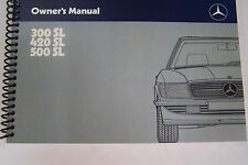 1987 Mercedes 300sl 420sl 500sl Owners Manual  W107 Parts 1988 1989 reprint