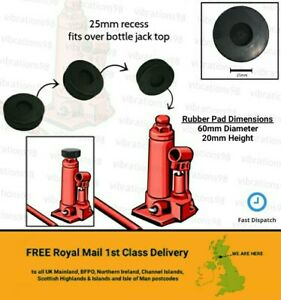Heavy Duty Rubber Pad for Bottle Jack Protection Pad 25mm dia recess on bottom