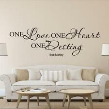 BOB MARLEY One Love Quote Removable Decal Room Wall Sticker Vinyl Art Home Decor