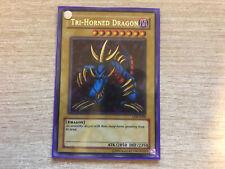 YuGiOh Tri-Horned Dragon LOB-E000 (Secret Rare Misprint Lightly Played)