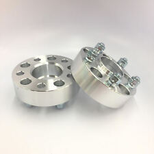 """2pc 1.5"""" Thick Wheel Spacers 5x4.75 Hubcentric w/ Lip 7/16 Stud FIT Chevy Buick"""