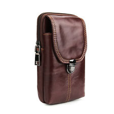 Crazy Horse First Layer Cowhide Leather Belt Clip Holster Waist Pack (003)