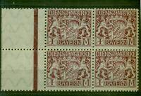 Bayern,Löwen Wappen Nr.D 29  postfrisch ** Viererblock Ränder Bug