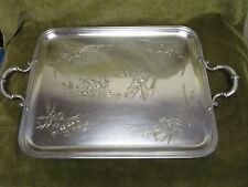 Beau plateau à thé métal argenté art nouveau 1900 Th Henry  silverplate Tea tray