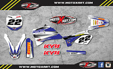 Yamaha YZ 125 / 250 - 1996 - 2001 custom graphics kit SHOCKWAVE style stickers