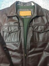 Timberland Weather Gear Waterproof Brown Cowhide leather Jacket/Coat Men's Med
