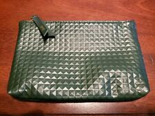 New August Ipsy Green Zip Cosmetic Makeup Pouch Bag