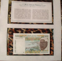 *WEST AFRICAN STATES Banknote Senegal (K) 500 Francs sign 25 1993 UNC P 710Kc