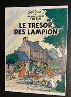 Les aventures de Tintin poster pour pastiche. Le trésor des Lampion Harry Edwood