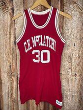 Vintage Medalist Sand Knit Ck McClatchy Basketball #30 Jersey Maroon Size 36 Usa