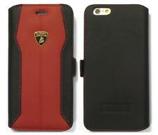 Lamborghini Huracan-D1 Leather Ultra Slim Side Flip Case for iPhone 6/6s Red