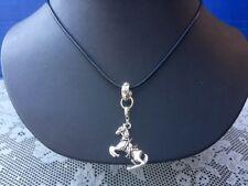 Western Equestrian Antique Silver Horse Necklace