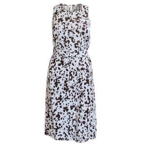 Dorothy Perkins Ivory & Coffee Print Sleeveless Sheath Dress