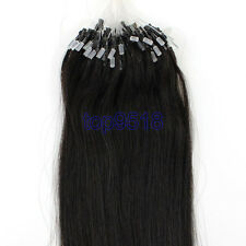 "16""~26""Ombre Micro Ring Beads Loop Remy Real Human Hair Extensions Straight 100s"
