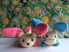 Pokemon Plush Plusle Minun Hasbro Advanced 2 Set doll Bean Bag figure U.S Seller