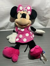 "Minnie Mouse DISNEY 20"" Plush Stuffed Animal PINK Dress"