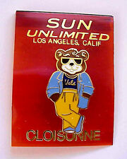 UCLA BRUINS JOE BRUIN BEAR MASCOT IN COOL SUNGLASSES ENAMEL PIN