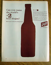 1963 Schlitz Beer Ad Can you name the World's #2 Beer Slogan?