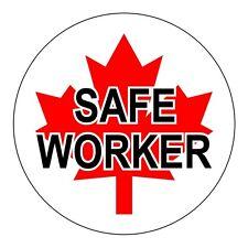 Canadian Flag Safe Worker Hard Hat Decal / Helmet Sticker / Label Canada Royal