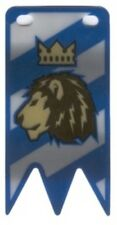 LEGO Castle - Blue Plastic Flag with Lion with Crown Pattern, Small (Vertical)