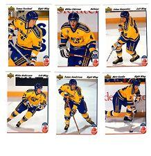 1X Canada Cup 1991-92 Upper Deck TEAM SWEDEN SET Series 1 & 2 Bulk Lot Available