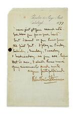 Robert Louis Stevenson Author Autograph Reprint On Genuine 1870s Paper