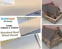 Standard Slate Roof Large Sheet Mould - OO/HO Gauge Model Railway Scenery - CM30