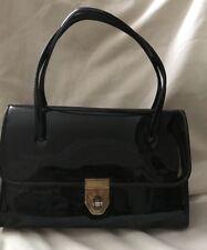 Ladies true vintage Black Patent leather Box bag